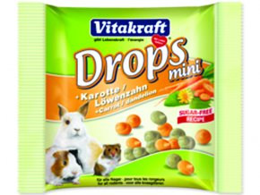 Drops VITAKRAFT Happy Karotte Rabbit 40g
