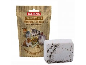 Minerální Kámen Dajana – COUNTRY MIX Mineral block fruit & vitamins