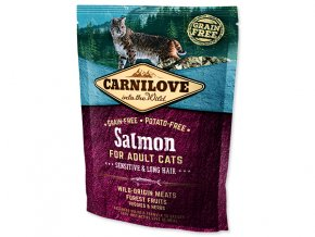CARNILOVE Salmon Adult Cats Sensitive and Long Hair 400 g