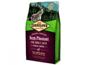 CARNILOVE Duck and Pheasant adult cats Hairball Control 2 kg