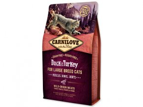 Carnilove Duck and Turkey Large Breed Cats – Muscles,Bones,Joints 2kg