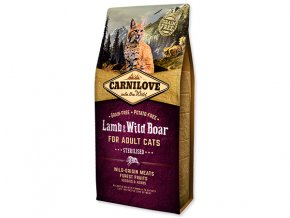 CARNILOVE Lamb and Wild Boar Adult Cats Sterilised 6 kg