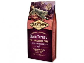 Carnilove Duck and Turkey Large Breed Cats – Muscles, Bones, Joints 6kg