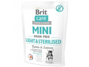 BRIT Care Mini Grain Free Light & Sterilised 400g