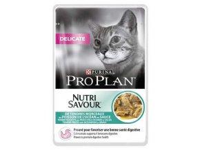 Pro Plan Cat kapsička Delicate Ocean Fish 85 g 3+1