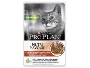 Pro Plan Cat kapsička Sterilised Beef 85 g 3+1