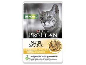 Pro Plan Cat kapsička Sterilised Chicken 85 g 3+1