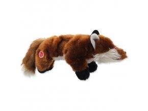 Hračka DOG FANTASY Skinneeez Plush pískací liška 45 cm