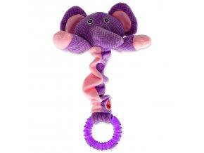 LET`S PLAY Junior slon fialový 30 cm