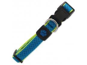 Obojek ACTIV DOG Fluffy Reflective modrý M
