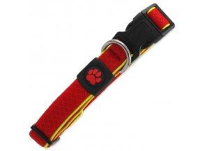 Obojek ACTIV DOG Fluffy Reflective červený M
