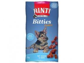 RINTI Extra Bitties Puppy kuře + hovězí 75g