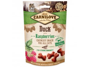 CARNILOVE Cat Crunchy Snack Duck with Raspberries with fresh meat 50g