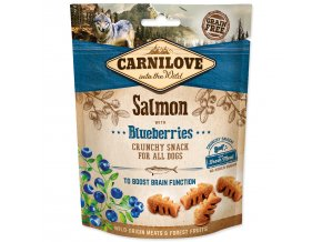 CARNILOVE Dog Crunchy Snack Salmon with Blueberries with fresh meat 200g