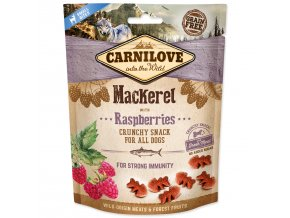 CARNILOVE Dog Crunchy Snack Mackerel with Raspberries with fresh meat 200g