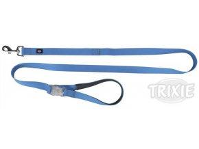 Neonové vodítko se svítící karabinou S-L 1,2-1,8m/25mm modré