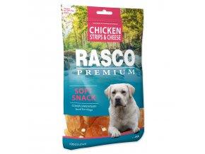 Pochoutka RASCO Premium proužky kuřecí se sýrem 80g