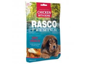 Pochoutka RASCO Premium kosti obalené kuřecím masem 80g