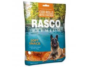 Pochoutka RASCO Premium tresčí rolky obalené kuřecím masem 230g