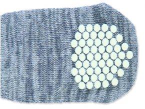 Ponožky TRIXIE protiskluzové šedé S-M 2ks