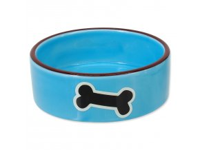 Miska DOG FANTASY keramická potisk kost modrá 12,5 cm 0,29l