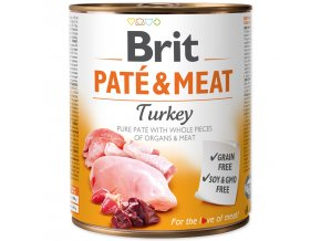 Konzerva BRIT Paté & Meat Turkey 800g