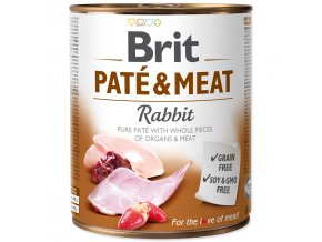 Konzerva BRIT Paté & Meat Rabbit 800g