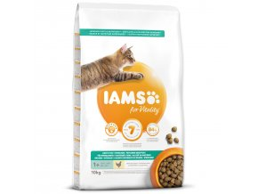 IAMS for Vitality Weight Control Cat Food with Fresh Chicken 10kg