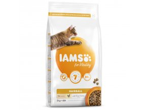 IAMS for Vitality Adult Cat Food Hairball Reduction with Fresh Chicken 2kg