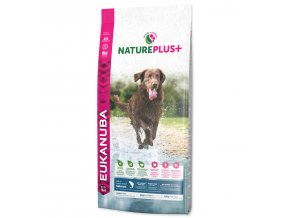 EUKANUBA Nature Plus+ Adult Large Breed Rich in freshly frozen Salmon 10kg