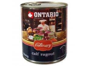 Konzerva ONTARIO Culinary Calf Ragout with Duck 800g
