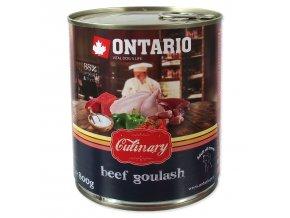 Konzerva ONTARIO Culinary Beef Goulash 800g