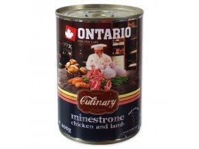 Konzerva ONTARIO Culinary Minestrone Chicken and Lamb 400g