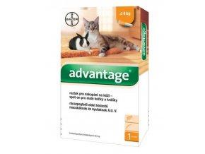 Advantage 40mg pro malé kočky a králíky, 1x 0,4ml do 4 kg