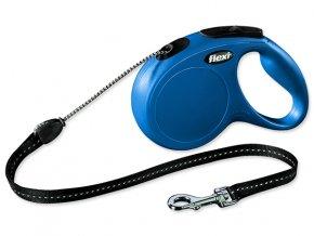 Vodítko FLEXI Classic New lanko modré M 5 m 20 kg