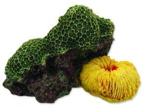 Dekorace AQUA EXCELLENT mořský korál zelenožlutý