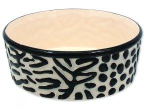Miska DOG FANTASY keramická zebra 21,5 cm 1,7 l