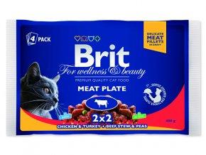 BRIT Premium cat Kapsička meat plate 400 g